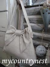 Photo: borsa fiocco in lino grezzo