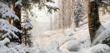 """Photo: Andrei Nikolaevich Schilder, """"Valle alberata sotto la neve"""" (1904)"""