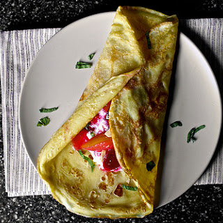 Sugar Plum Crepes with Ricotta and Honey.