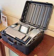 Photo: An early personal computer. Could it be considered a laptop? :-)
