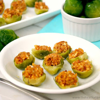 Chipolte Almond Stuffed Brussels Sprouts (Raw, Vegan, Gluten-Free, Dairy-Free)