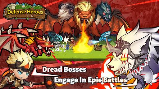 Defense Heroes: Defender War Offline Tower Defense android2mod screenshots 8