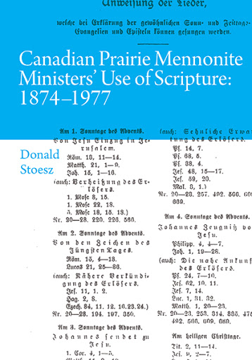 Canadian Prairie Mennonite Ministers' Use of Scripture cover