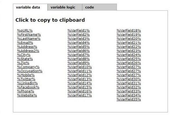 Postalytics Personalize Page