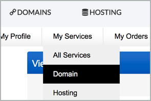 My Services > Domain