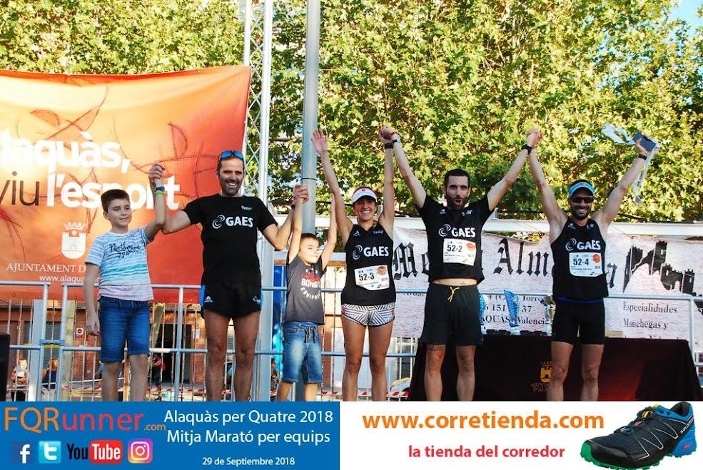 Equipo Ganador Mixto Media Maratón por equipos Alaquàs 2018