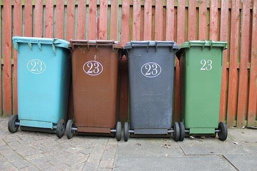 Wheelie Bin, Garbage, Rubbish, Waste