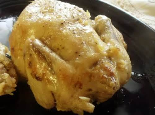 """Crock Pot Rosemary Cornish Game Hen """"Quick, very easy, and delicious! Perfect..."""