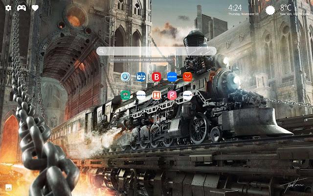 Steampunk Art Wallpaper HD Background New Tab