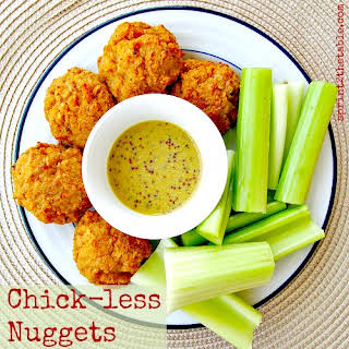 Chick-less Nuggets + Sweet 'n Spicy Mustard Sauce.