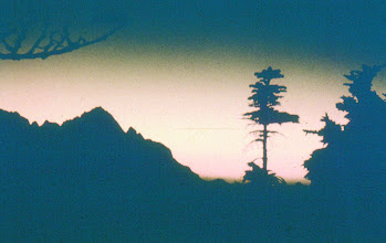 Photo: 14. Border Peaks at sunset from Copper Mountain Ridge, North Cascade Primitive Area (northern Pickets).