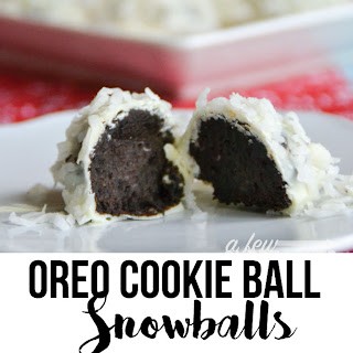 Oreo Cookie Ball Snowballs.