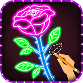 How to Draw Glow Flower