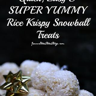 YUMMY Rice Krispy Snowball Treats