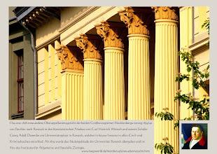 Photo: Das erst 1818 entstandene Oberappellationsgericht der beiden Großherzogtümer Mecklenburgs verzog 1839/40 von Parchim nach Rostock in den klassizistischen Neubau des Schweriner Baumeister Carl Heinrich Wünsch.
