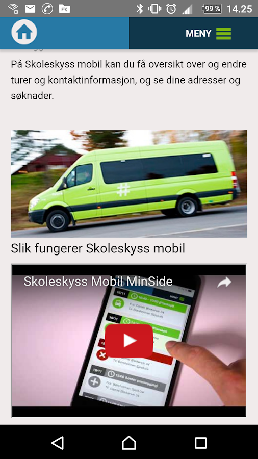 Min Skoleskyss- screenshot