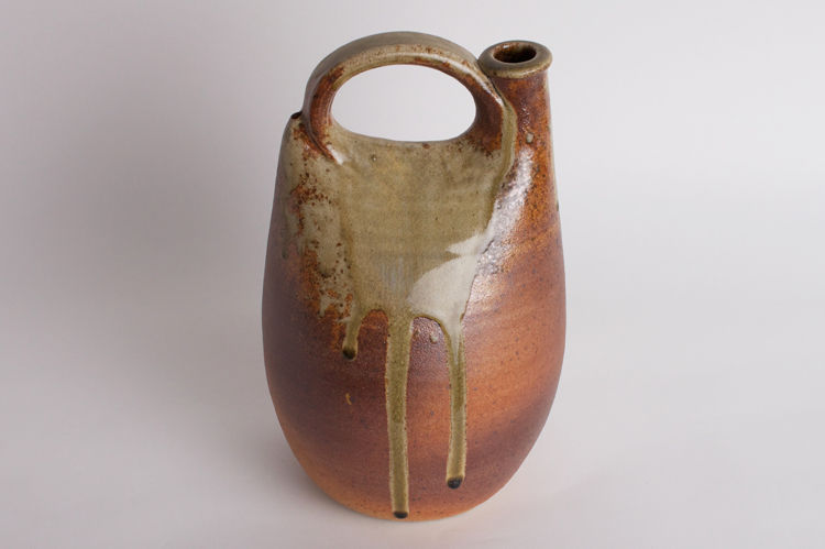 John Leach Large Ceramic Wood Fired Flask 001
