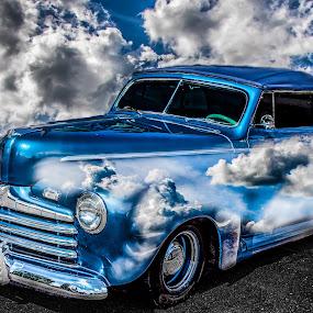 reflections by Dougetta Nuneviller - Digital Art Things ( clunker, car, classic car, junker, vintage, automobile, hotrod, transportation, classic )