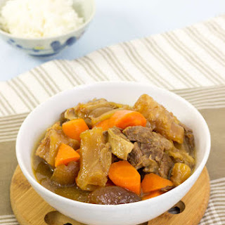 Beef Tendon and Brisket Stew.