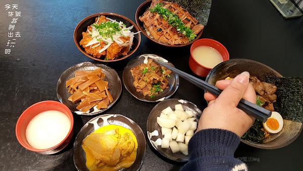 日式宵夜餐廳川牛木石亭。燒肉丼飯。無料雞白湯。直火炙燒鎖住肉汁。