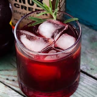 Bourbon Pomegranate Sour.