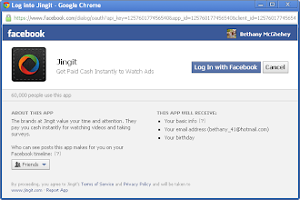 Photo: Confirm that you do want to log in with Facebook.