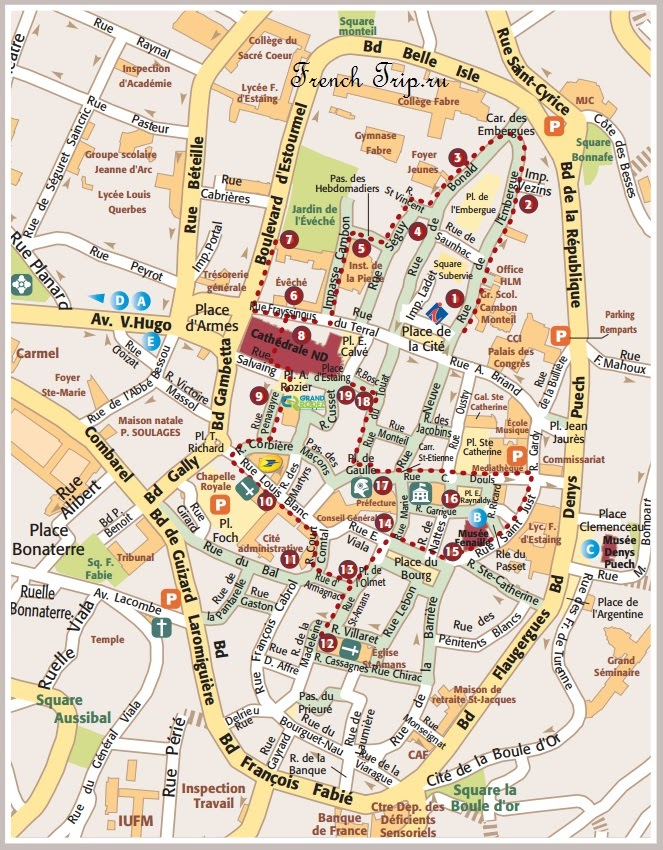 Туристический маршрут по Родезу