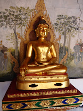 Photo: Budha statue in gold leaf