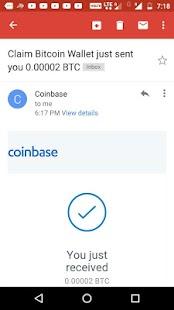 Claim Bitcoin Wallet - náhled