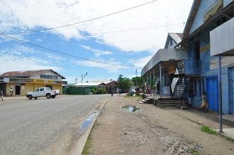 Photo: Gizo main street, actually only street
