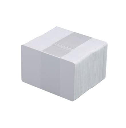 Vita plastkort, självh.