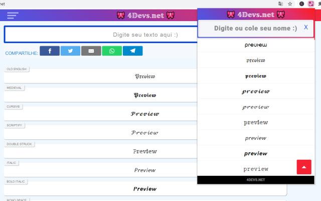 4Devs.Net ➜ #𝟙 ⚡(☉̃ₒ☉) ⭐ Conversor de letras