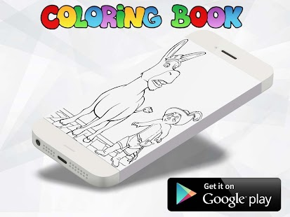 shrek Coloring Book Pages - náhled