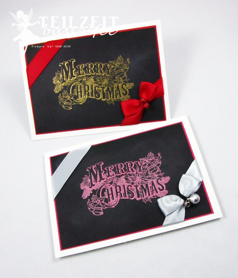 Stampin' Up! - Inkspire_me, Christmas Challenge, Weihnachten, Bells and Bows, Schleifchen und Glöckchen, Merry Christmas, Christmas Postcard