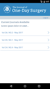BADS - Journal of One-Day Surgery- screenshot thumbnail