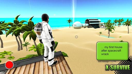 X Survive: Crafting & Building Sandbox Arcade  captures d'u00e9cran 1