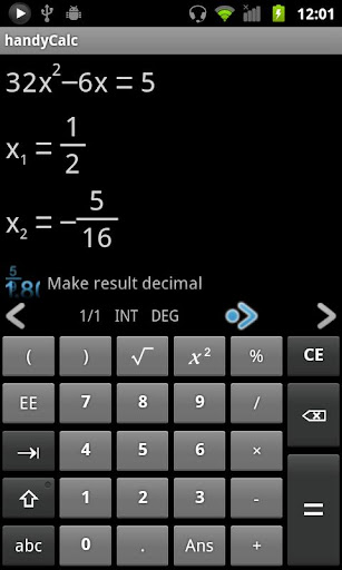 handyCalc screenshot 1