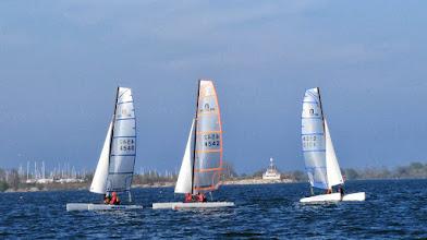 Photo: The fleet of 3 sails downwind