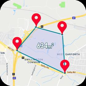Измерение площади полей GPS Калькулятор расстояния