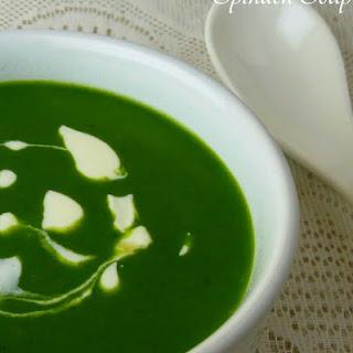 Spinach Soup (Palak Soup) Recipe
