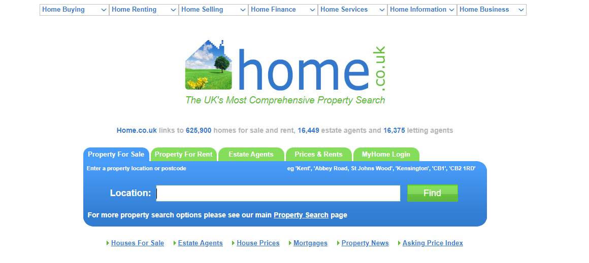 Real Estate Aggregator - Home.co.uk