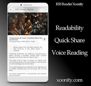 RSS Reader Xoonity - Rss Feed screenshot 1