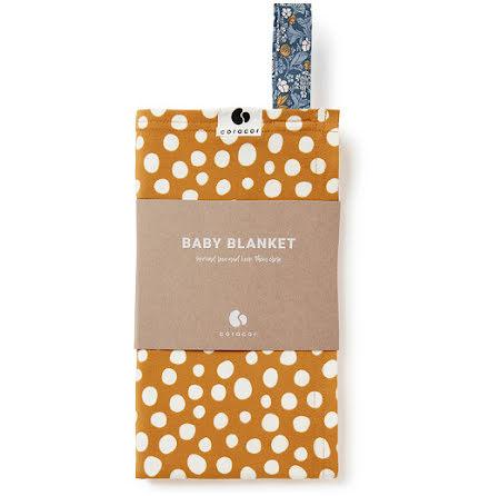 Coracor Abstract Dot Mustard Babyfilt