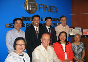 Photo: 22 August 2013 - Visit to the FINEX Office in Makati (Back L-R) Thanh Nguyen, Omar Cruz, Bach Nguyen, Victor Lim (Front L-R) Menchu Serina, Luis Ortiz-Hidalgo, Judith Lopez and Conchita Manabat