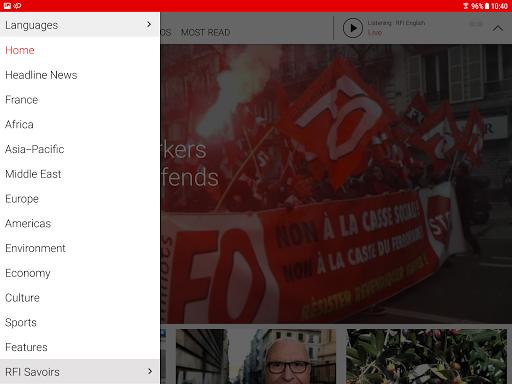 RFI - Radio France Internationale,  live news 3.3.9 Screenshots 6