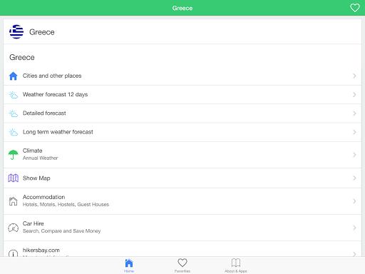 無料天气Appのギリシャの天気、ガイド|記事Game