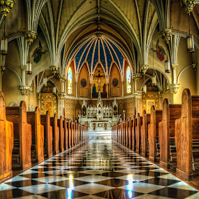 Inside St. Andrews Catholic Church by Nathaniel Jorge - Buildings & Architecture Places of Worship ( church, hdr, architecture, va, roanoke )
