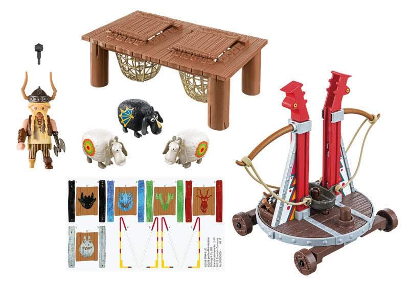Contenido Real de Playmobil® 9461 Bocón con Lanzadera de Ovejas