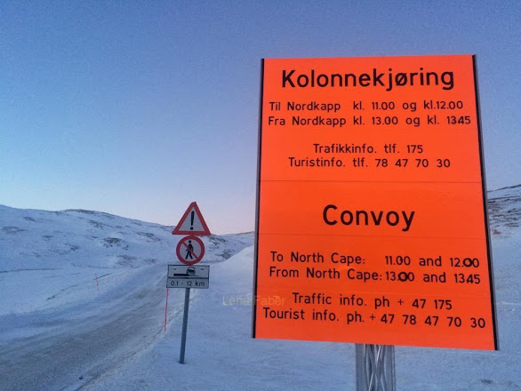 Photo: The meeting point of a convoy