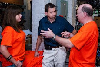 Photo: Cristina, HOV chairman Matthew Bizzarri and Champe Burnley chat